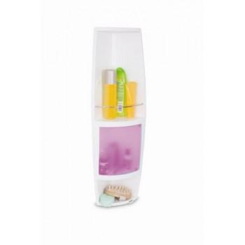 Угловой шкафчик для ванной Stack M-S04-22 розовый