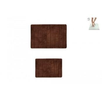 Коврик для ванной Memory D-16023 коричневый (2 шт.)