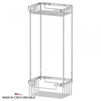 Полка-решетка прямоугольная двойная 13 см RYN017