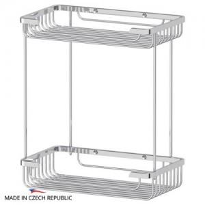 Полка-решетка прямоугольная двойная 26 см RYN023