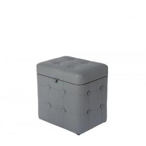 Пуфик с крышкой СДМ серый 04К Eko 725