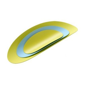 Набор из 3 стальных блюд Ellipse Alessi ABI07SET3