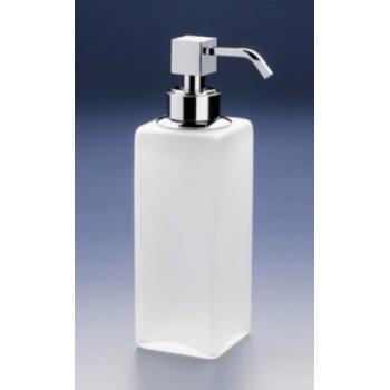 Диспенсер для жидкого мыла Windisch Box crystal mate 90412MCR Chrome / матовое белое стекло