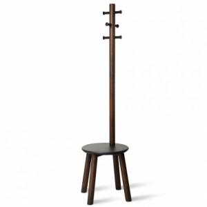 Вешалка-табурет Umbra Pillar 1014257-048 напольная черный-орех