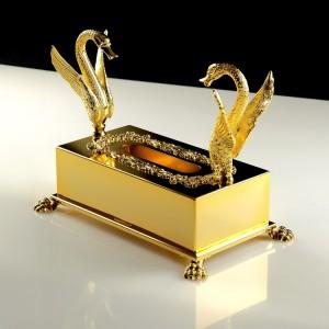 Бокс для салфеток Migliore Luxor золото 26144