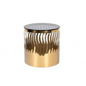 Стол журнальный WAVE тонированное стекло/золото GY-ET8149GOLD