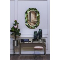 Зеркало в зеленой зеркальной раме Garda Decor KFG079