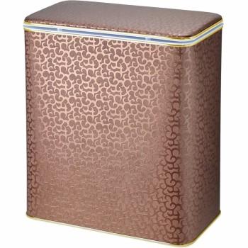 Корзина для белья Cameya Цветы FDG-BG-9 с микролифтом глубокая Коричневая, кант золото