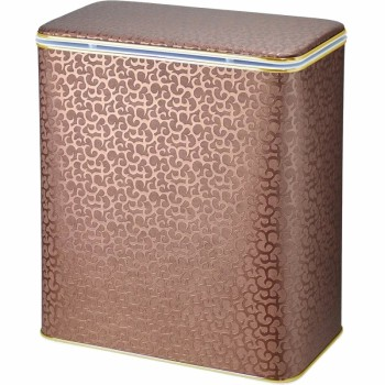 Корзина для белья Cameya Цветы FDG-M-9 с микролифтом средняя Коричневая, кант золото
