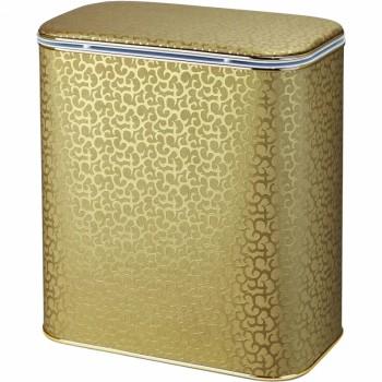 Корзина для белья Cameya Цветы FGG-M средняя Золото, кант золото