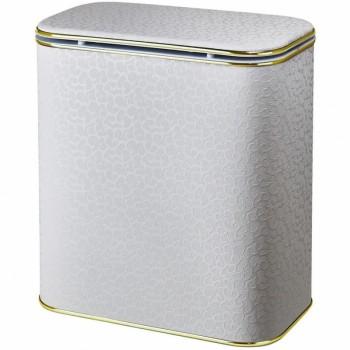 Корзина для белья Cameya Цветы FWG-M-9 с микролифтом средняя Бежевая, кант золото
