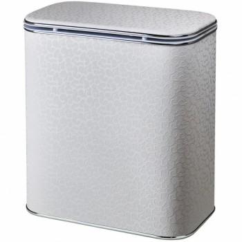 Корзина для белья Cameya Цветы FWH-BG-9 с микролифтом глубокая Белая, кант хром