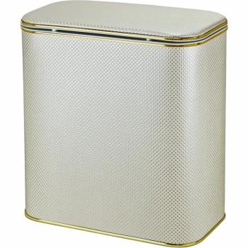 Корзина для белья Cameya Квадрат KLG-B-9 с микролифтом большая Бежевая, кант золото