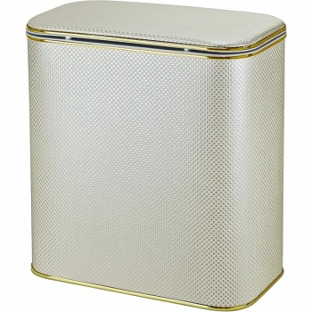 Корзина для белья Cameya Квадрат KLG-BG-9 с микролифтом глубокая Бежевая, кант золото
