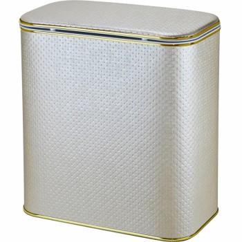 Корзина для белья Cameya Punto PLG-M-9 с микролифтом средняя Бежевый, кант золото