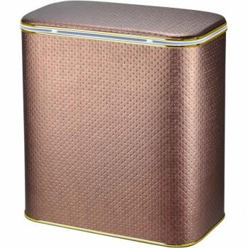 Корзина для белья Cameya Punto PNG-BG-9 с микролифтом глубокая Орех, кант золото