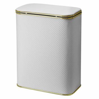 Корзина для белья Cameya Punto PWG-B-9 с микролифтом большая Белая, кант золото