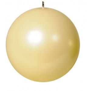 Свеча шар жемчужно кремовая 100061