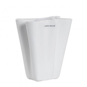 Ваза керамическая матовая белая A28-15