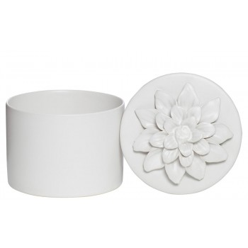 Шкатулка белая из керамики CB2581-S2-14-R11