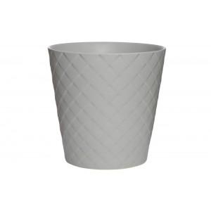 Кашпо серое керамическое CB2749-20-R455