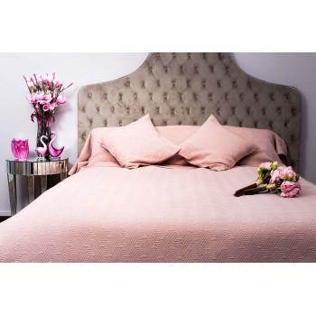Покрывало на двуспальную кровать 240х260 розовое Papillon II 16AMR-PAPILLON PK2.05V-RO