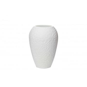 Ваза стеклянная белая KL1623B