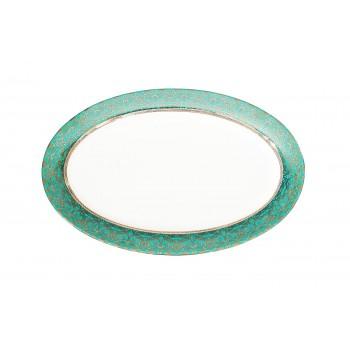 Тарелка овальная (бирюзовый орнамент) 25WIN RIVIERA PL36