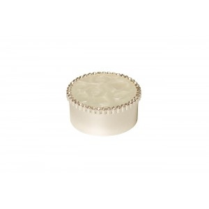 Шкатулка белая со стразами JB0538L