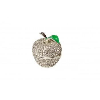 Шкатулка «Яблоко» серебряная JB1782