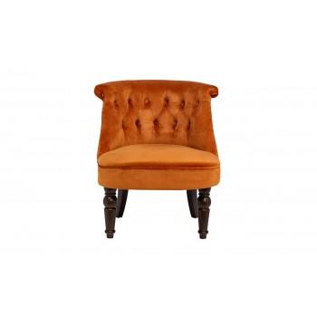 Кресло низкое терракотовое велюровое 24YJ-8044B