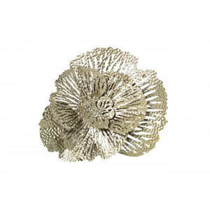 Декор настенный «Цветок» серебристый 37SM-8321-JN