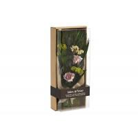 Розы сиреневые стабилизированные в коробке 34JN-033