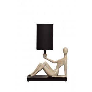 Лампа настольная «Женщина» (черный плафон) ART-4441-LM