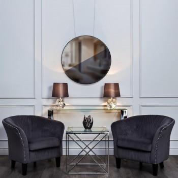 Зеркало со вставками (двухцветное) 19-ОА-5903-2