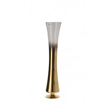 Ваза стеклянная прозрачная с розовым золотом 35BB-0960CG