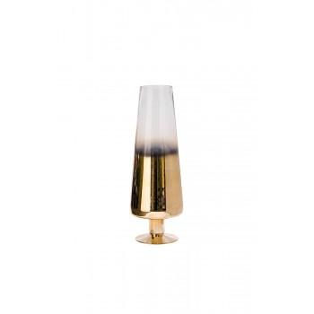 Ваза стеклянная прозрачная с розовым золотом 35BB-0955CG