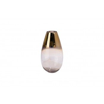 Ваза стеклянная прозрачная с розовым золотом 35BB1971CG