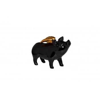 Статуэтка «Свинка с крыльями» черная T1713-2(черн.)