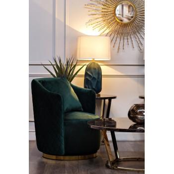Кресло вращающееся зеленое велюровое 48MY-2573 GRN GLD
