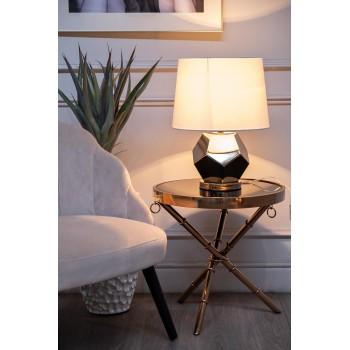 Лампа настольная золотая (белый абажур) 22-88259