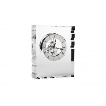 Часы настольные стеклянные серебряные C81494
