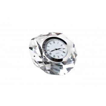 Часы настольные стеклянные серебряные C80591