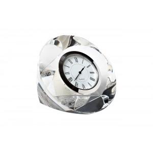 Часы настольные стеклянные серебряные C80721