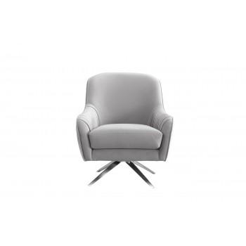 Кресло вращающееся серое велюровое ZW-855 GRE