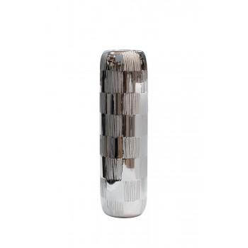 Ваза керамическая серебряная 18H3619S-15