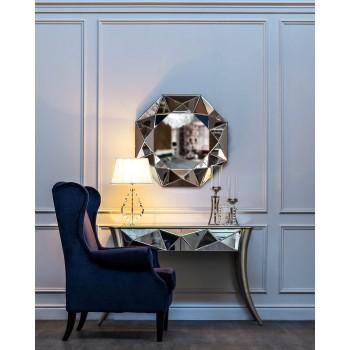 Кресло велюровое темно-синее PJS26601-PJ633