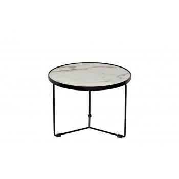 Столик журнальный белый (искусственный мрамор) 33FS-ET277-BL