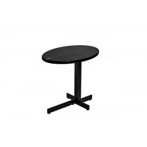 Стол журнальный черный (искусственный мрамор) 33FS-ET235-BL
