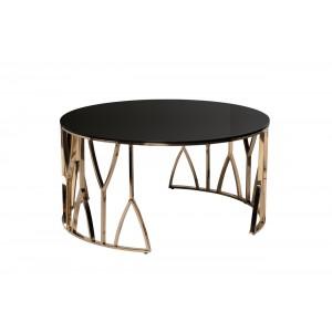 Стол журнальный с черным стеклом (золото) 13RXCT3104-GOLD